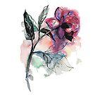 Watercolor rose by StefaStefo4ka