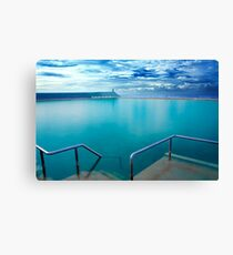 Newcastle Ocean Baths Canvas Print