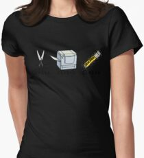 Cut, Copy, Paste Womens Fitted T-Shirt