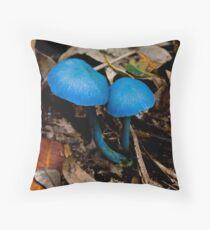 Pair Blue cap Fungi Throw Pillow