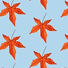 Sweet gum autumn leaf pattern 2 by quentinjlang