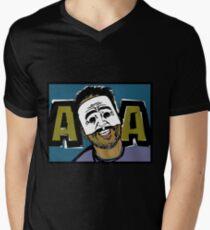 AngryAussie Mask Shirt (for dark shirts) Mens V-Neck T-Shirt