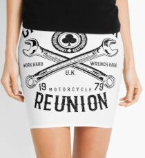 Cafe Racer Mechanic | Reunion Shirt  Mini Skirt