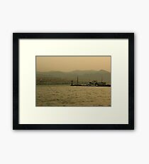 Commuting Izmir Framed Print