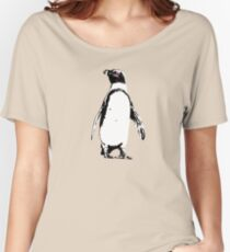 African Penguin graphic illustration Women's Relaxed Fit T-Shirt