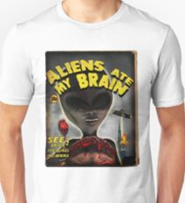 Aliens Ate My Brain (Pulp Cover) Unisex T-Shirt