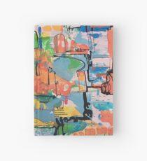 abstract landscape art, pattern, design Hardcover Journal