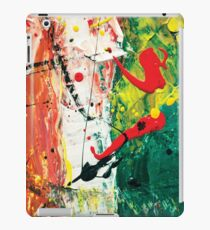 Flying red spots acrylic abstract painting iPad Case/Skin