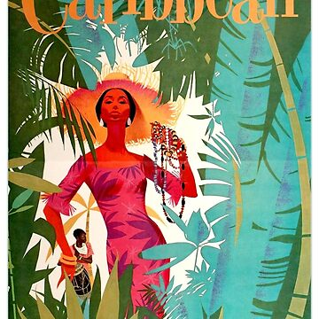 Vintage Caribbean Travel Poster by AllVintageArt