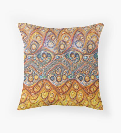 Sand waves #DeepDream #Art Throw Pillow