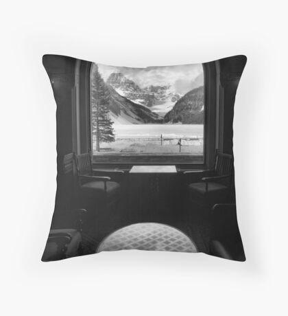 The glass table Throw Pillow