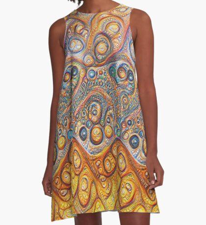 Sand waves #DeepDream #Art A-Line Dress