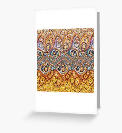 Sand waves #DeepDream #Art Greeting Card