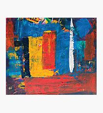 colorful square painting  Photographic Print