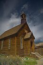 Storm Brewing Over Bodie Church by photosbyflood