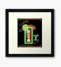 Tokyo Happy Hour Neon - with edges Framed Print