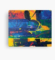 abstract acrylic colorful painting Canvas Print