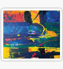 abstract acrylic colorful painting Sticker