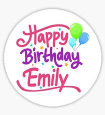 Happy Birthday Emily Sticker