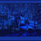 Old Blue Truck by Hope Ledebur
