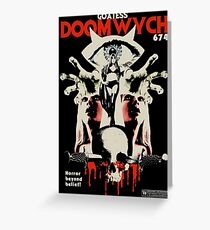 Goatess Doomwych : Horror Beyond Belief! Greeting Card