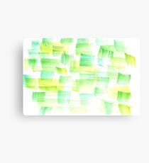 Abstract Watercolour Green Brush Yellow Forest Nature Canvas Print
