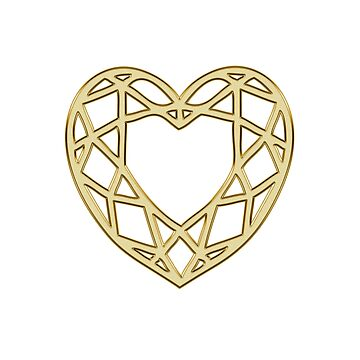 Heart gold gift idea by haads