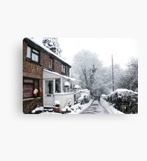 Winter Rural Cottage Canvas Print