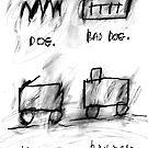 Dog, Bad Dog, Trolley, Railroad by ReBecca Gozion