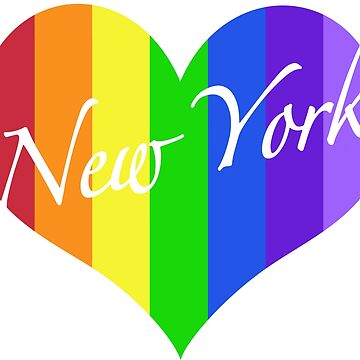 New York Rainbow Heart by MightyFineGoods