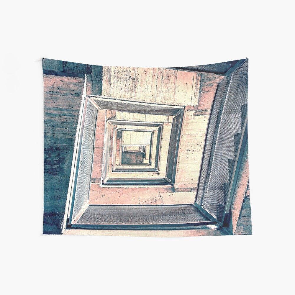 Winding Stairwell Abstract Wall Tapestry