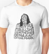 The Room TOMMY WISEAU I did not hit her, oh hi Mark disaster artist Unisex T-Shirt
