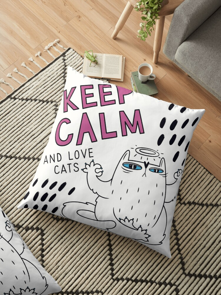 Keep calm decorative cushion by Camarada223