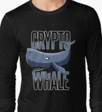Crypto Whale Funny Cryptocurrency Long Sleeve T-Shirt