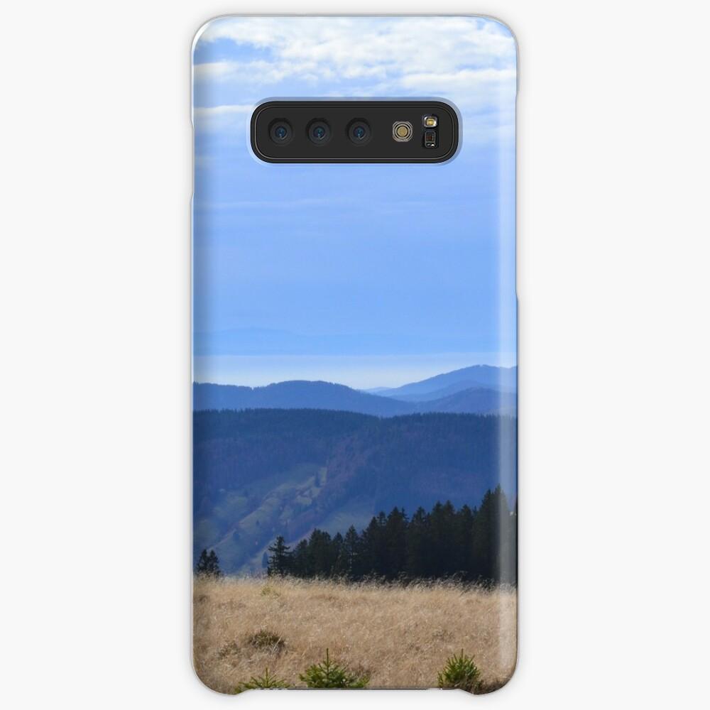 Schwarzer Wald Hülle & Klebefolie für Samsung Galaxy