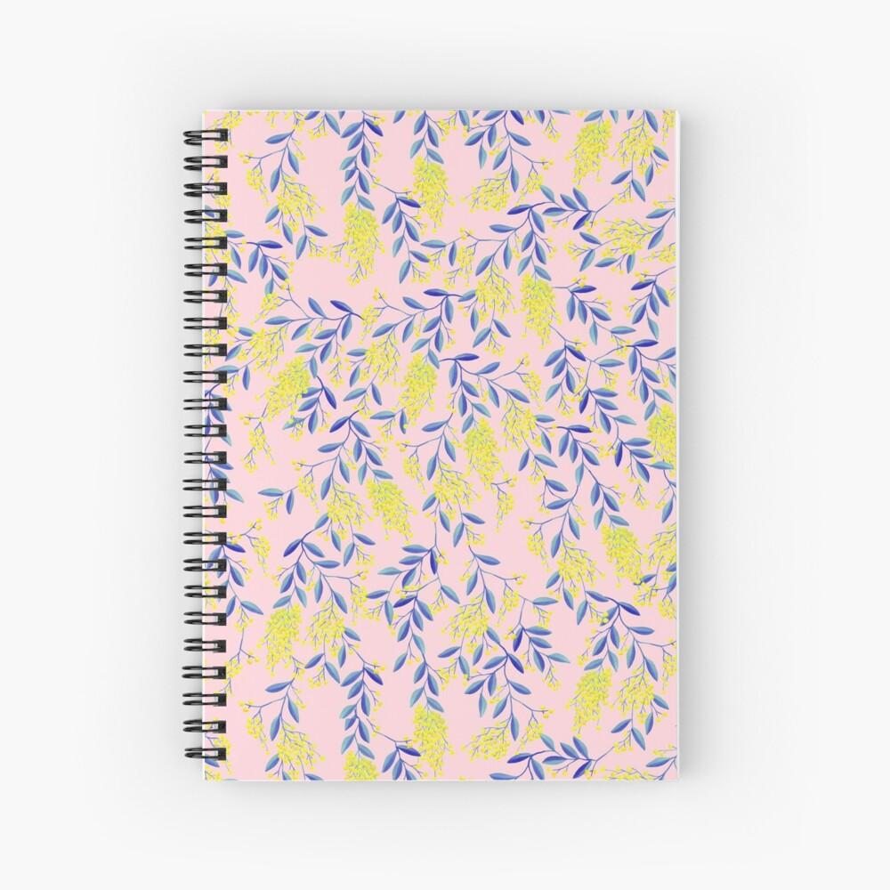 Golden Wattle - Navy & Blush Spiral Notebook