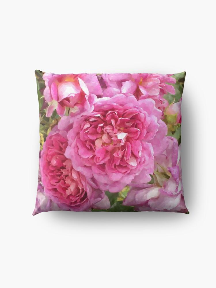 Alternate view of The Rose Garden Floor Pillow