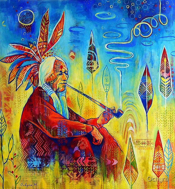Peace pipe | Art by Marianna Ochyra