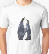 Penguins holding flippers Unisex T-Shirt