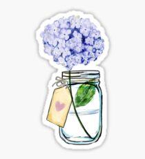Hortensie in einem Glas Sticker