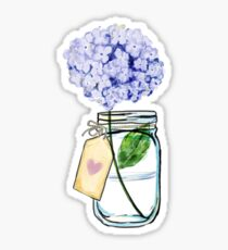 Hydrangea in a Jar Sticker