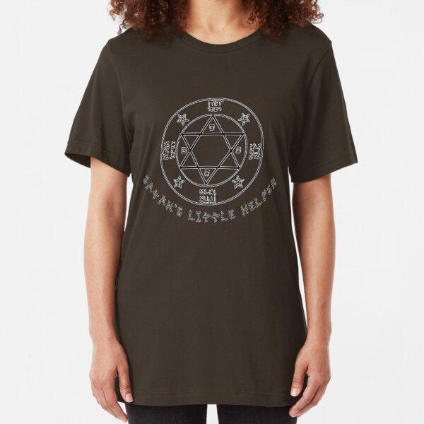 Satan's Little Helper Slim Fit T-Shirt