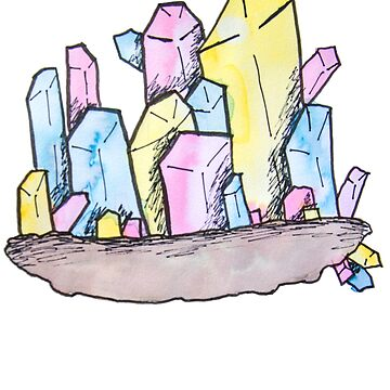 Pansexual Pride Crystal by KendraJKantor