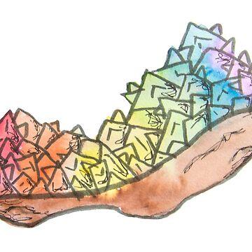LGBTQIA Pride Crystal by KendraJKantor