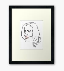 Gillian Anderson Sketch Framed Print