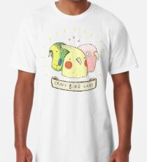 Crazy Bird Lady Long T-Shirt