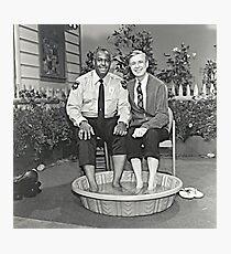 Herr Rogers und Offizier Clemmons Fotodruck