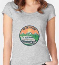 Camiseta entallada de cuello ancho Ma vie en van - Puesta de sol