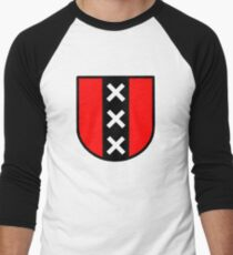 amsterdam triple xxx holland  Netherlands Men's Baseball ¾ T-Shirt