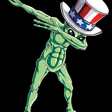 Dabbing Uncle Sam Alien T shirt 4th of July Kids Boys Men USA by LiqueGifts